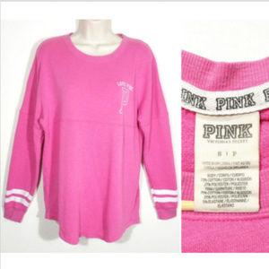 VICTORIA'S SECRET PINK Campus Tee T-shirt Top E1